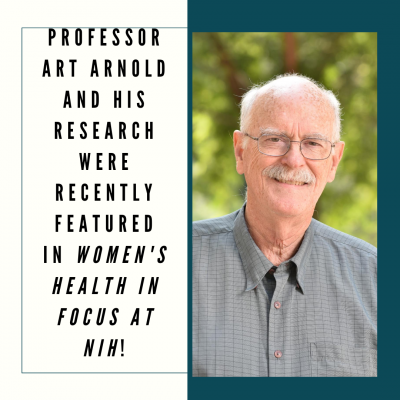Professor Art Arnold and his research were recently featured in Women's Health in Focus at NIH