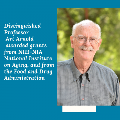 Distinguished Professor Art Arnold was awarded grants from NIH-NIA National Institute on Aging, and from the Food and Drug Administration