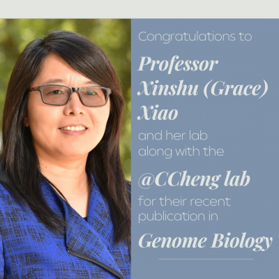 Congratulations to Professor Xinshu (Grace) Xiao and her lab along with the @CCheng lab for their recent publication in Genome Biology!
